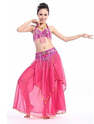 Belly Dance Women's Sexy Halter Bead Tassel Performance Outfit Including Top/Bottom(More Colors)