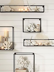 E-HOME® Metal Wall Art Wall Decor, Rectangular Wall Decor Set of 5