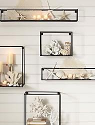 E-HOME® Metal Wall Art Wall Decor, Rectangular Wall Decor Set of 5
