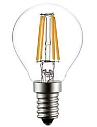 ON E14 4W 4 COB 400 LM Warm White G45 edison Vintage LED Filament Bulbs AC 220-240 V
