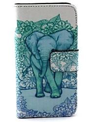 padrão elefante caso pu função estande bolsa de couro coldre para Huawei Y330