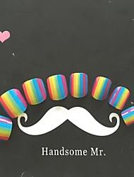 24pcs rainbow Fingernägel