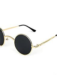 100% UV400 Women's Round Alloy Retro Sunglasses
