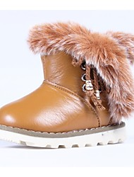 Girl's Boots Winter Round Toe / Comfort / Snow Boots Faux Fur / Calf Hair Outdoor / Casual / Athletic Flat HeelLace-up / Magic Tape /