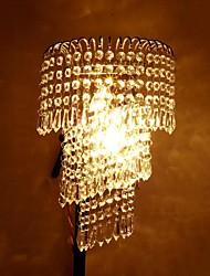 lampada da parete di cristallo portato lihting 2 e14 lampadine cristallo trasparente cornice d'argento sala corridoio luce dell'interno ripari infissi