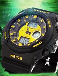 reloj de los hombres a prueba de agua de goma digital de moda deportiva para los deportes al aire libre (colores surtidos)