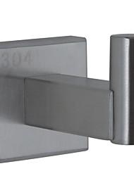 patère nickel contemporaine terminé paroi en acier inoxydable SUS304 monté accessoire de salle carrée