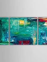 Oil Painting Modern Abstract Bold And Beautiful Set of 3 Hand Painted Canvas with Stretched Frame