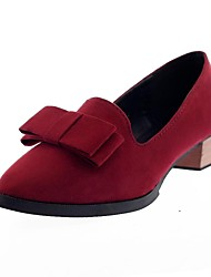 Women's Shoes Pointed Toe Chunky Heel Loafers with Bowknot Shoes More Coloers available