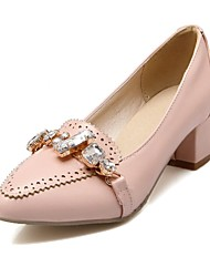 Women's Shoes Pointed Toe Chunky Heel Pumps with Sparkling Glitter Shoes More Colors available