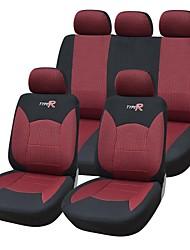 9 parti / seggiolino auto copre set materiale in forma universale materiale jacquard rosso con tre millimetri spugna composito accessori auto