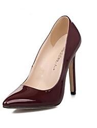Scarpe Donna - Scarpe col tacco - Formale / Serata e festa - Tacchi / A punta - A stiletto - Finta pelle - Borgogna