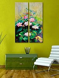 e-HOME estiró arte determinado de la pintura de la decoración de loto lienzo de 2