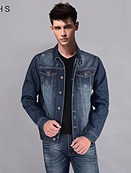 YHS®Men's Single Breasted Denim Jacket T32
