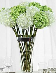 1 Ast Kunststoff Hortensie Tisch-Blumen Künstliche Blumen 15 x 15 x 55(5.91'' x 5.91'' x 21.65'')