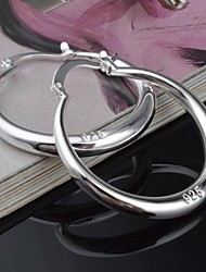 Hoop Earrings Women's Silver Earring Non Stone