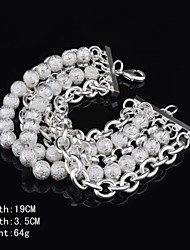 Fashion Sterling Beading Silver Women's Bracelet