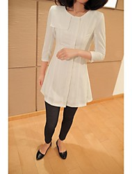 Women's Black/Beige Dress , Sexy/Casual/Party/Work ¾ Sleeve