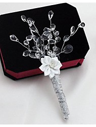 Wedding Flowers Boutonnieres Wedding / Party/ Evening Clear Satin / Crystal