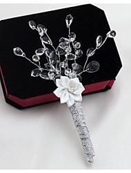 Bouquets de Noiva Alfinetes de Lapela Casamento / Festa / noite Cetim / Crostal