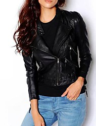 Women PU/Faux Leather Outerwear