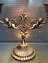 European Style Bronze Cupid Candle Holder
