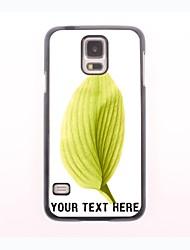 personalisierte Telefon-Fall - Blatt-Design Metallgehäuse für Samsung-Galaxie s5 Mini