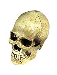 Halloween 2-en-1 de résine emulational crâne décoration - jaune-blanc