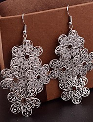 Women's Multilevel Hollow Flower Earrings