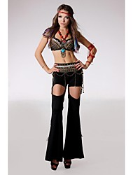 Belly Dance Outfits Women's Performance Velvet / Metal Copper Coins / Pattern/Print / Tassel(s) Dropped Belt: S:85cm, M:90cm