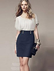 plus size vestido das mulheres com cape Colla rodada vestido de manga chiffon magro