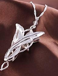 Women's Fashion Flower Pendant Silver Alloy Movie Pendant Necklace(1 Pc)