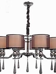 simples lustres en cristal de fer forgé 8 lumières