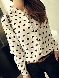 Women's Point Collar Floral Print Shirt
