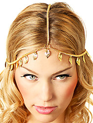 Shixin® European Leaf Tassels Golden Alloy Headbands For Women(1 Pc)