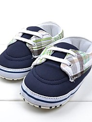 Baby Shoes First Walker Flat Heel Cotton Fashion Sneakers with Lace-up Shoes