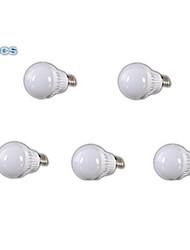 5W E26/E27 LED Kugelbirnen A60(A19) 18 SMD 2835 400-500 lm Kühles Weiß AC 110-130 V 5 Stück