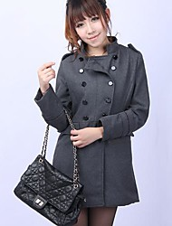 Women's Double Breasted Wool Casual Coat