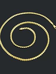 figaro 60 cm de chaîne hommes plaqué or or colliers de chaîne (largeur de 4,5 mm)