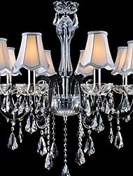 modello nero lampadari di cristallo lampadari di moda E14 * 8
