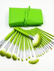 24pcs Fresh Green Professional High Quality Makeup Brush Set