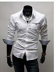 Playgame Men's Casual Lapel Neck Shirt