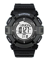 Sunroad relógio esportivo fr821a para outdoor equipe alpinista, altímetro, barômetro, bússola, pedômetro e data etc