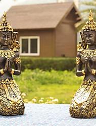 novidade tailândia decoração buda contemplativa ouro, resina