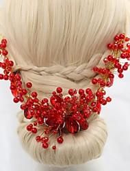 Women's / Flower Girl's Crystal / Alloy / Imitation Pearl / Acrylic Headpiece Flowers