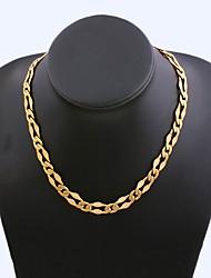 Figaro cadeia 45 centímetros homens dourado chapeado colares cadeia