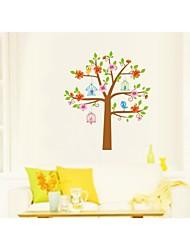 Wall Stickers Wall Decals, Style Cartoon Warm Tree PVC Wall Stickers