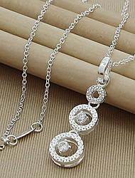 argenté de haute qualité pur collier élégant