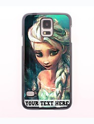 Personalized Phone Case - Cartoon Girl Design Metal Case for Samsung Galaxy S5