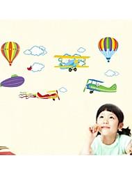 stickers muraux stickers muraux, style de bande dessinée air mobilisation générale muraux PVC autocollants